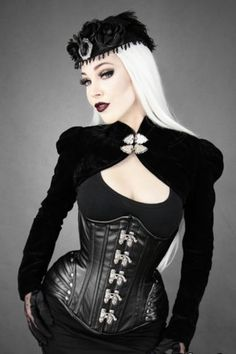 Restyle-Kunst-Leder-Korsett-Black-Widow-Corset-Steelboned-Gothic-Steampunk