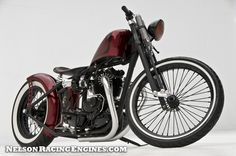 "RE-PIN THIS!!! http://www.cardosystems.com/  Triumph bobber ""Bloody Marry"""