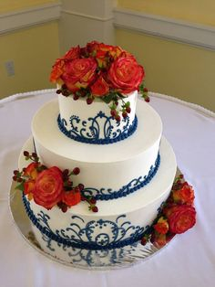 Wedding cake from Some Crust Bakery. So beautiful!