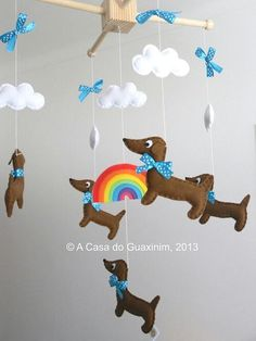 doxie mobile for baby crib!