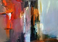 "Abstract Artists International: Contemporary Abstract Painting ""Between Worlds"" by Intuitive Artist Joan Fullerton"