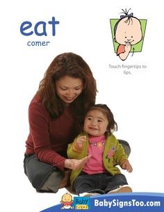 Free poster with the sign for EAT  www.BabySignsToo.com #BabySigns #BabySignLanguage #BabySign
