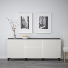 BESTÅ Storage combination with drawers - white stained oak effect, Lappviken light grey - IKEA Ikea Storage, Storage Spaces, Küchen Design, Interior Design, Soft Closing Hinges, Shelf Board, Ikea Family, White Stain, Drawer Fronts