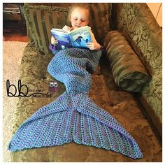 (4) Name: 'Crocheting : Mermaid Tail Blanket with Ruffles