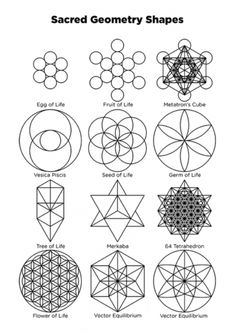 Sacred Geometry Patterns, Sacred Geometry Tattoo, Geometry Shape, Sacred Geometry Meanings, Tattoo Muster, Flower Of Life Pattern, Symbols And Meanings, Flower Tattoos, Flower Of Life Tattoo