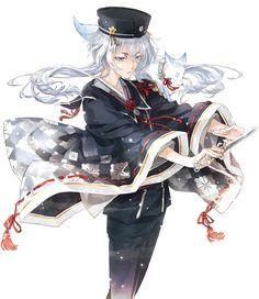 Anime Guys, Manga Anime, Anime Art, Nikkari Aoe, Ninja, Manga News, Anime Version, Undertale Cute, Touken Ranbu