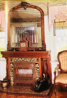 Mantle Decorating, Oversized Mirror, Vanity, Fire, Places, Furniture, Home Decor, Dressing Tables, Powder Room