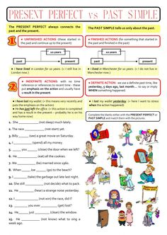past simple and present perfect interactive and downloadable worksheet. Check your answers online or send them to your teacher.