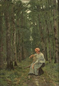 Woman in the Wood Ion Andreescu (Romanian, Sculpture Art, Sculptures, Google Art Project, Wood Oil, Art Google, Romania, New Art, Oil On Canvas, Illustration