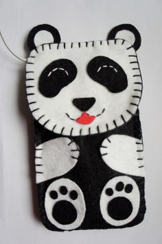 Handmade felt animal case! Designed and created by me with love...    Let this cutie protect your belongings. It is double layered for extra protection,