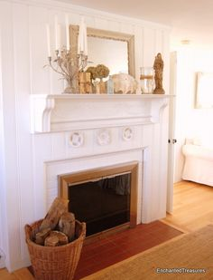shabby chic mantles for fireplaces | Enchanted Treasures — shabby chic, romantic decorating, hand painted ...