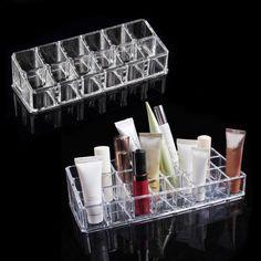 Makeup Cosmetics Lipstick Acrylic Organizer Stand Display Holder Storage Rack YX    eBay