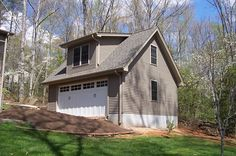 This is a garage built in Easley SC. It has with storage one either side of the shed dormer and in the middle where the shed dormer is located it is open to the top allowing for storage of […] Screened In Porch, Porch Swing, Simple Porch Designs, Garage Design, House Design, Porch Kits, Shed Dormer, Log Siding, Porch Plans