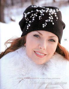Crochet patterns Hats, beanie, beret, crochet hood, Free form, bag Fashion Magazine, Jurnal Mod No 541