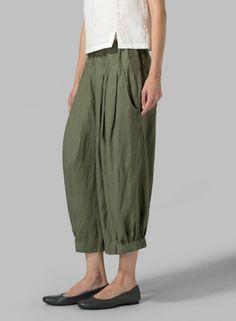 MISSY Clothing - Linen Harem Pants