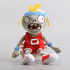 Amazon.com: Pirate Zombie Red 12 Inch Toddler Stuffed Plush Kids Toys PVZ by kidsheaven: Toys & Games