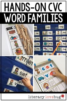 Word families activities for your kindergarten or first grade students! Includes four activities that are fun and hands-on. Place these printables at a center, use for word work or during your small group reading instruction.