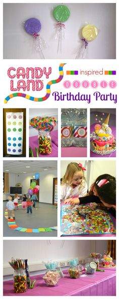Candy Land Birthday Party: decor, food and game ideas