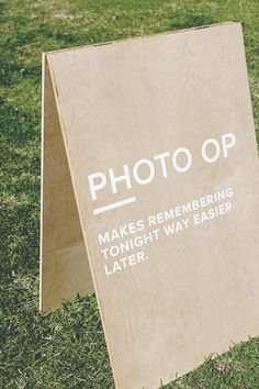 Minimalist Signage: This low-cost project for your wedding day is easy to make for any level of DIY.