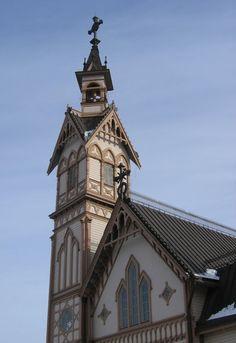 Tower of the Town Church in Kajaani, Finland