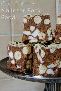 Cornflake & Malteser Rocky Road -  A delicious twist on a classic – Cornflake & Malteser Rocky Road! Perfect for a party, or just as a good snack! www.janespatisserie.com