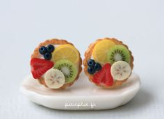 These are so gorgeous. Fruit Tart Earrings!