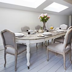 Dining Table Makeover Whitewash Table Top And White Chalk Paint - Whitewash kitchen table and chairs