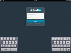 Login Screen - LinkedIn App for iPad