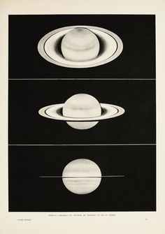 1937 Antique astronomy print of SATURN by TheOldPrintsCabinet