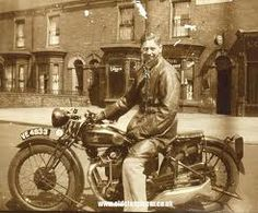 Related image Goth Art, Old Bikes, Great British, Vintage Motorcycles, Historical Photos, 1930s, Black And White, American, Aesthetics
