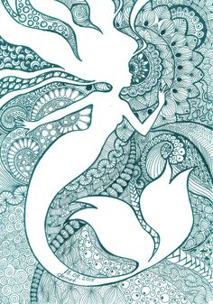 Mermaid-Zentangle by demetkilic on DeviantArt