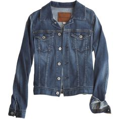 ADRIANO GOLDSCHMIED Robyn Denim Jacket ($195) ❤ liked on Polyvore