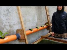 Hand-powered aquaponics rope pump...no electricity - YouTube