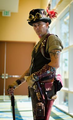 The Steam-punk time traveler by digital-dreams, via Flickr --- cool dude. Not too many of them  - #steampunk - ☮k☮