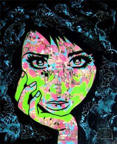 Comic Collage Women - We've seen all sorts of neat graphic art capturing people's personalities, but these pop art stencil portraits by PaperMonster are some...