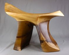 Poplar Carved Stool by amiejeanoriginal on Etsy, $4780.00