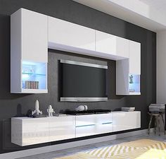 Más ideas - More ideas Living Room Wall Units, Living Room Tv Unit Designs, Interior Design Living Room, Tv Cabinet Design, Tv Wall Design, Bedroom Closet Design, Home Room Design, Tv Wanddekor, Tv Unit Furniture