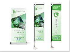 Emerald Risk Transfer Banner design Banner Design, Telescope, Innovation, Emerald, Studio, Studios, Emeralds