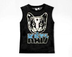 Kitty Cat Shirt Cute Cats T-Shirt Women Black T by PLASTICJUS