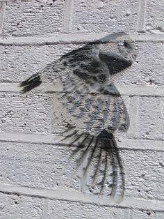 Owl Stencil, London, UK by Robby Virus, via Flickr