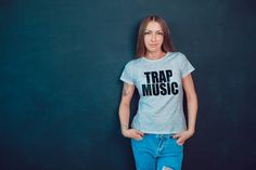 Trap Music Womens T-Shirt Slogan Tee Bass Music Trap Nation