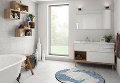 Asymmetri på en elegant måde - lyder det spændende? DESIGNA har udvidet deres koncept til badeværelset. Det giver dig nu muligheden for at få funktionalitet og individualitet som et led til indretningen af dit badeværelse.