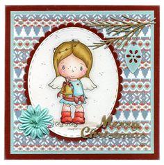 C.C. Designs Swiss Pixie Birgitta Rings A Bell, C.C. Cutters Make A Card #10 Christmas Die, C.C. Cutters Ovals #1 Die, C.C. Cutters Scalloped Ovals Die