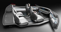 Mercedes-Benz Vision G-Code Concept - Interior Design Rendering