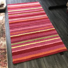 Childrens Rugs, Hall Runner, Striped Rug, Pink Kids, Pink Rug, Stripes Design, Different Colors, Boy Or Girl, Kids Room