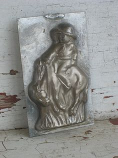 Vintage Candy Mold Cowboy on a Horse 1950s