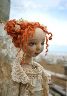 :: Crafty :: Cloth Doll :: 2 ::  Купить или заказать Текстильная коллекционная кукла Рада. Бохо стиль. в интернет-магазине на Ярмарке Мастеров.