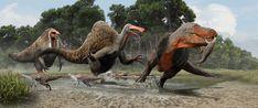 Výsledok vyhľadávania obrázkov pre dopyt Deinocheirus and Tarbosaurus Prehistoric Wildlife, Prehistoric World, Prehistoric Creatures, Jurassic Park, Jurassic World, Dinosaur Fossils, Dinosaur Art, Disney Dinosaur, Dinosaur Pictures