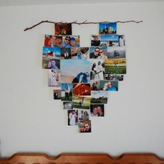 Lovers' Wall Hanging {Valentines Day Craft} Surprise your loved ones on Valentine's Day with this fun wall hanging. Arrange pictures of you together into a… Valentine Day Special, Valentine Day Crafts, Love Photo Collage, Photo Wall Hanging, Heart Wall Decor, Photo Quilts, Picture Arrangements, Photo Heart, Diy Room Decor