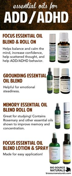 If you struggle with ADD/ADHD, these essential oils could be for you!  #ADHD